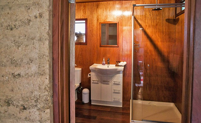 bathroom earth cabin
